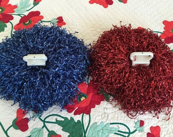1950s Vintage Cheerleader Pompoms- Pom Poms - High School - Pon Pons - Ponpons