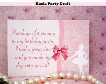 SALE!! Ballerina thank you cards. Ballerina baby shower. Ballerina birthday. Ballerina party decorations. Ballerina party.