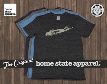 Long Island, New York Men's/Unisex Home T Shirt by Home State Apparel