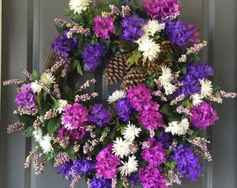 This Weeks Special, Front Door Wreath, Hyacinth Wreath, XL Wreaths, Front Door Wreaths, Summer Wreath, Wreaths, Summer Front Door Wreath