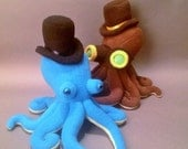 Blue and Green Octopus and Steampunktopus