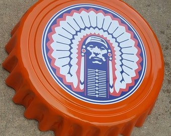 "University of Illinois Fighting Illini Giant 16"" Bottle Cap Wall Hanging for Man Cave"