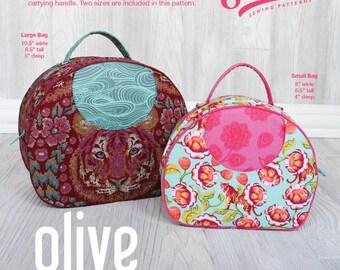 Swoon Patterns: Olive Vanity Bag - PDF Vintage Purse Vanity Cosmetics Bag Train Case Sewing Pattern