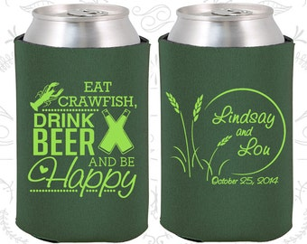 Forest Green Wedding, Can Coolers, Forest Green Wedding Favors, Forest Green Wedding Gift, Forest Green Party Favors (583)
