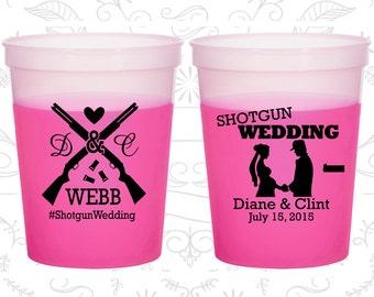 Shotgun Wedding, Custom Mood Cups, Country, Southern Wedding, Redneck, Magenta Mood Cups (562)