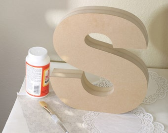 Standing Wood Letter - Font, Size & Letter of Your Choice