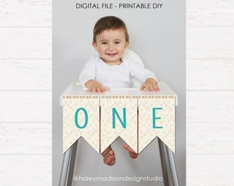 Wild One High Chair Banner DIGITAL FILE