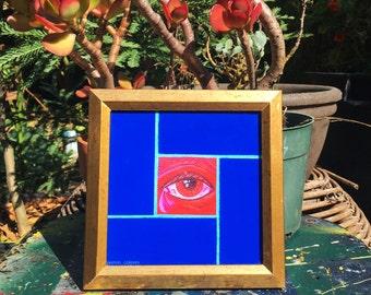 Framed Crying Mission Tile print