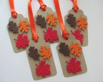 Fall Gift Tags, Fall Favor Tags, Fall Leaves Favor Tags, Autumn Gift Tags, Fall Leaves, Package Tags, Thanksgiving Gift Tags, Gift Tags