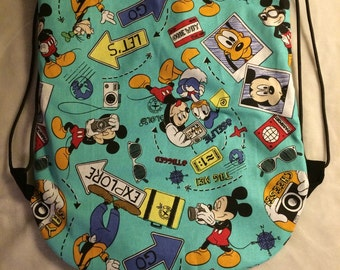 Mickey mouse drawstring backpack
