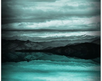 Teal Large Wall Art • Nature Art Print