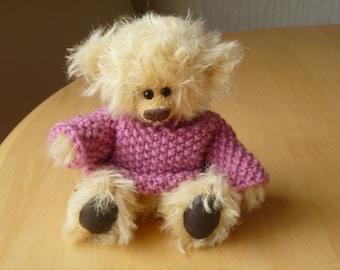 """POLLY 5.5"""" OOAK German Mohair Bear"""
