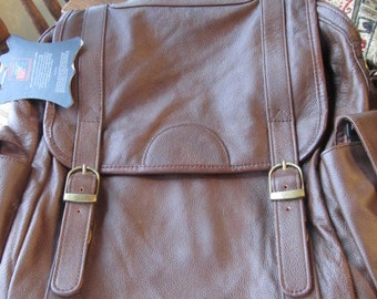 New Brown Leather Handbag, Satchel, or Large Bag