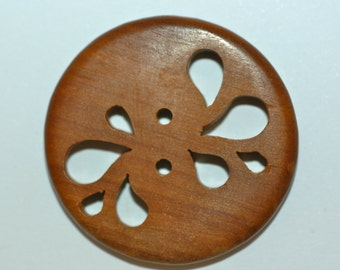 Cut Out Wood Button Sz 1 1/2""