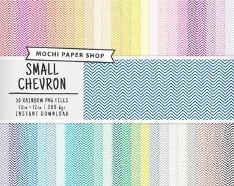 Small Chevron Digital Paper, Rainbow Chevron Pattern, Digital Zig Zag Paper, Chevron Scrapbooking, Large Chevron Download, Chevron PNG