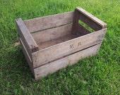 3 x GENUINE APPLE FRENCH Wooden Vintage Storage Crate apple bushel Box Rustic Shabby Chic  Storage shelving