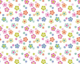 Blend Fabrics - Dainty Blooms White - Paisleigh Collection - 101.108.03.2