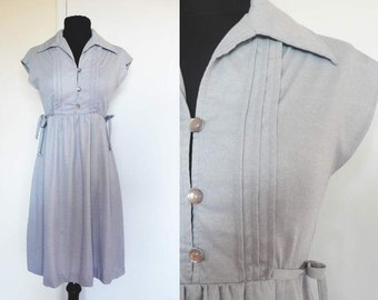 1970s Ash Gray Dress | juniors  | xs
