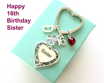 16th birthday gift for Sister - Personalised Sister keyring - Butterfly keyring - Gift for Sister - 16th keyring - Sister birthday - UK