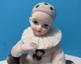 "Vintage  MANN Musical ""Clown"" Japan Figurine Collectible Collector Girl Boy Circus"