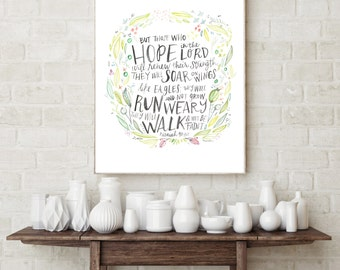 Hope in the Lord Isaiah 40:31 Print