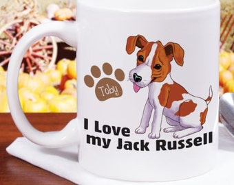 Personalized I Love My Jack Russell Mug