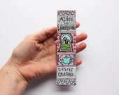 Alice in Wonderland Hand Painted Bookmark // Book Spine Bookmark // Lewis Carroll // Gift for Readers