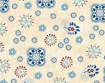 Studio E Fabrics - American Folk Cream E3214 44 - Quilting Fabric