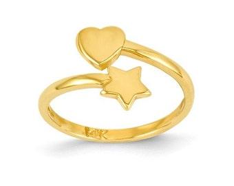 Heart & Star Toe Ring (C2081)