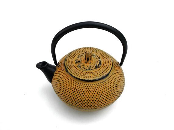 Japanese cast iron tea pot teapot hobnail tetsubin kettle - Japanese teapot with infuser ...