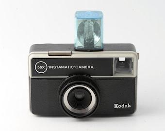 Kodak Instamatic 56X 126 Film Cartridge Camera with Case - Working