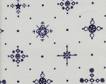 One Yard - 1 Yard of Cafe Cup Indigo - CLOVER by Alexia Marcelle Abegg - Cotton & Steel