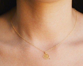 Gold necklace, tiny gold necklace, simple gold necklace, delicate necklace, everyday necklace,dainty necklace,gold filled,gift for her- 025