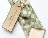 Floral tie, blush pink skinny tie, Mens skinny tie, wedding tie,sage green mens tie, men's floral tie