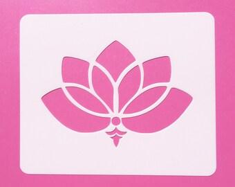 Reusable Mylar Lotus Flower, Mylar Stencil, Lotus Flower Stencil, LF2