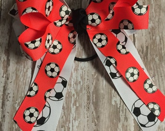Soccer Bow, Soccer Ribbon, Team Colors, Soccer Season, Soccer Tournament, Fast Shipping