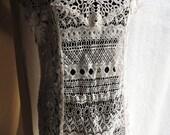 Bohemian Lace Mix Dress ,Women Boho Lace Dress ,Ivory Dress ,Mori Girl Dress, Gypsy Fairy Dress ,Shabby Chic Women Dress