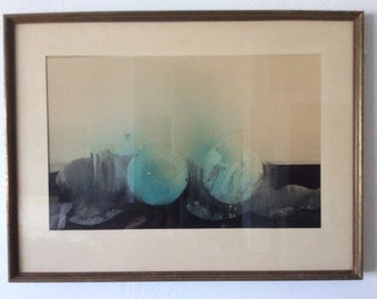Mid Century Modern Abstract Lithograph