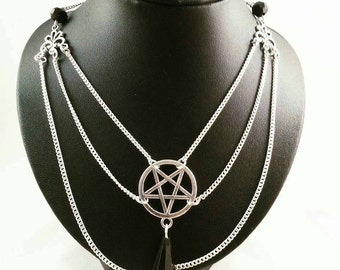 Pentagram necklace Lucifer