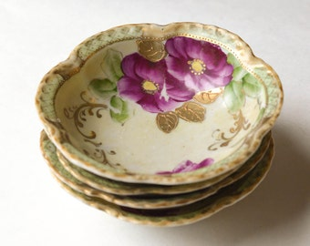 Hand Painted Bowls Porcelain Berry Bowls Set of 4