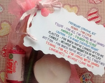 Pretty little Friendship Survival Kit, great gift idea for your best friend