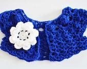 Crochet Baby Shrug Bolero w/ Flower