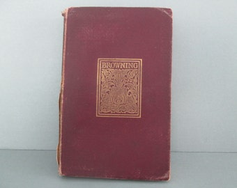 """1898 Robert Browning's """"Men and Women/In a Balcony/Dramatis Personae"""", a Book of 19th Century English Poetry"""