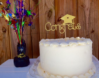 Graduation Cake Topper, Congrats Cake Topper, Congrats, Class or 2016, Graduation, Graduation Decor