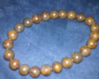 NEW item Brown jasper 8mm beads, elastic FREE shipping