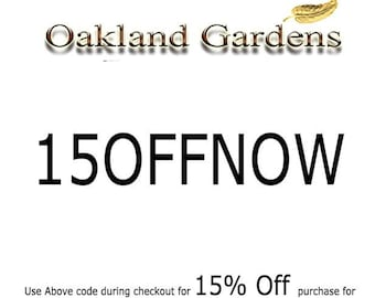 Use 15OFFNOW For 15% Off Order of 30 and above