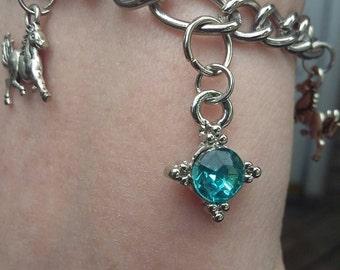 Crystals and ponies bracelet