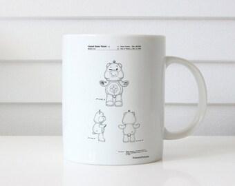 Good luck Care Bear Patent Mug, Vintage Toy, Retro Toys, Toy Room, Girls Room Mug, Girls Gifts, PP0589