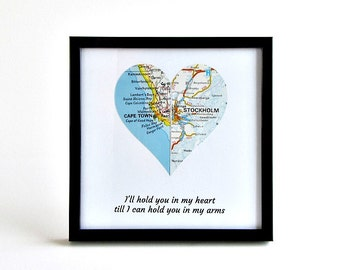 Boyfriend Distance Gift, Girlfriend Distance Gift, Boyfriend Christmas Gift, Long Distance Couple Gifts, Distance Christmas Gifts, Map Gifts
