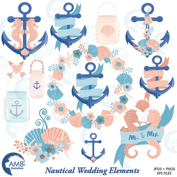 nautical clipart coastal clipart wedding clip art beach wedding rh catchmyparty com Beach Wedding Clip beach wedding clipart free